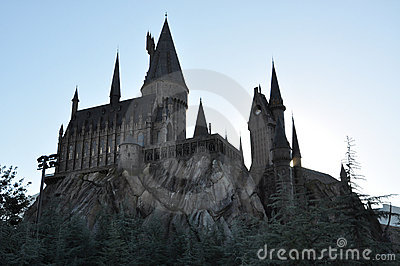 Harry Potter Castle in Universal Orlando Editorial Stock Image