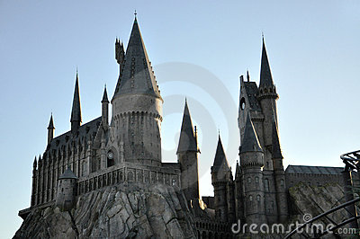 Harry Potter Castle in Universal Orlando Editorial Photography