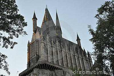 Harry Potter Castle in Universal Orlando Editorial Stock Photo