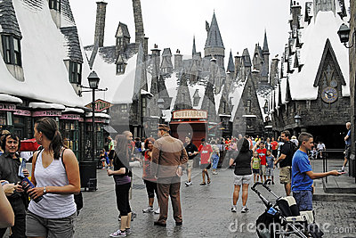 Harry Potter in the universal studios Editorial Stock Image