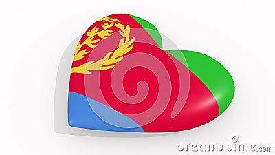 Hart in kleuren en symbolen van Eritrea, lijn vector illustratie