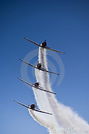 Free Harvard Aerobatic Team, Incoming, Stacked Stock Photo - 14041210