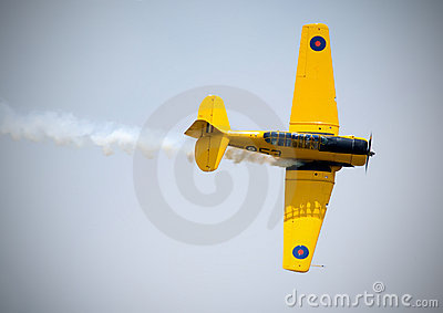 Harvard Trainer Aircraft Editorial Photo