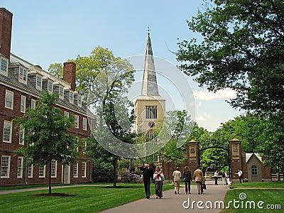 Harvard university campus in Cambridge Editorial Stock Image