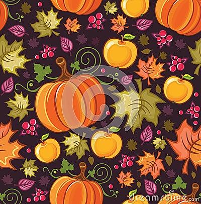 Free Harvest Seamless Pattern 4 Stock Photos - 11065043