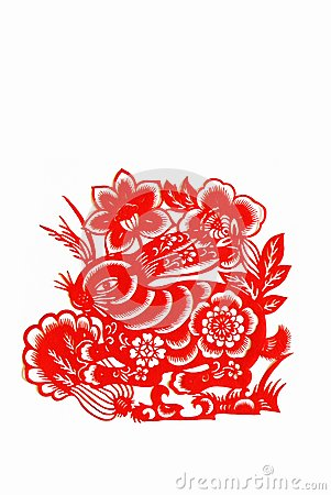 hasen papierausschnitt chinese tierkreis stockbilder bild 9988914. Black Bedroom Furniture Sets. Home Design Ideas