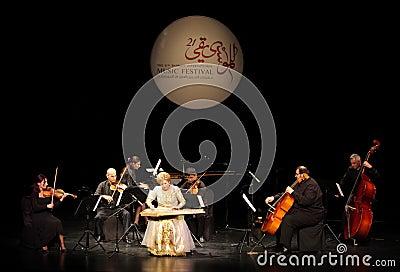 Hasmik Leyloyan performs, October 01 2012, Bahrain Editorial Photo