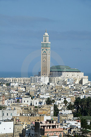Free Hassan II Mosque Cityscape View Casablanca Morocco Royalty Free Stock Photos - 10098008