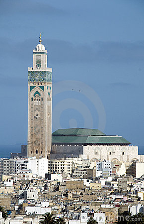 Free Hassan II Mosque Cityscape View Casablanca Morocco Stock Image - 10114071
