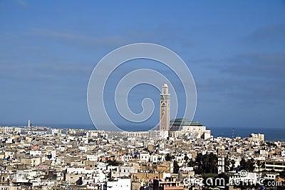 Hassan II mosque cityscape view casablanca morocco