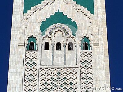 Hassan II mosque detail (2), Casablanca, Morocco