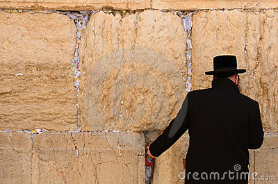 Hassidic Jew Praying Editorial Photography