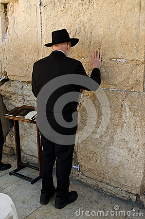 Hassidic Jew Praying Editorial Image