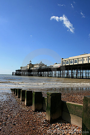 Hastings Pier in distance, East Sussex