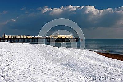 Hastings Pier in the Snow-1