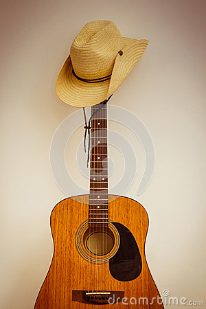 Free Hat And Guitar Royalty Free Stock Image - 25513466
