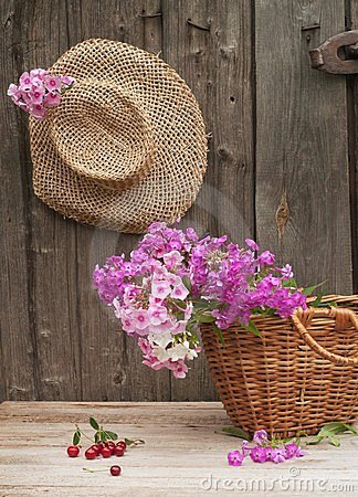 Hat and basket