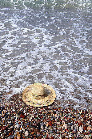 Hat at the beach