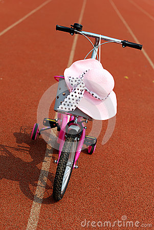 Hat and bicycle