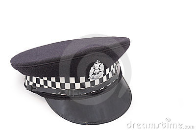 Hat of British police officer