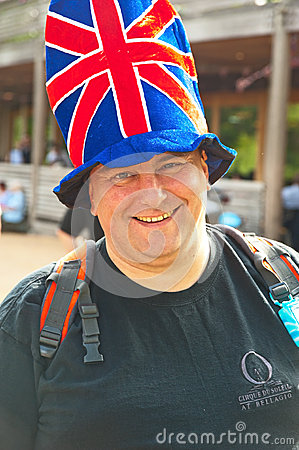 Hat decorated with Union Jack Editorial Stock Photo