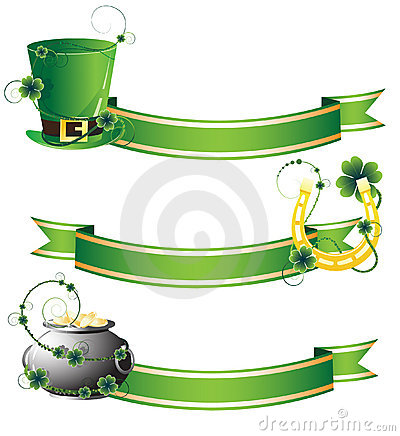 Hat, horseshoe and pot with gold