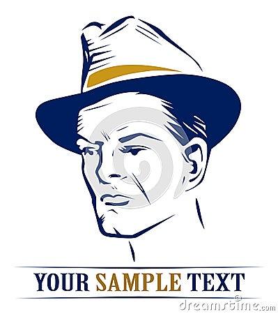 Hat man portrait