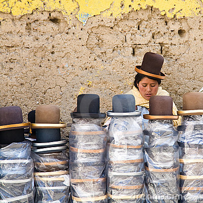 Hat Shop, Bolivia Editorial Photo