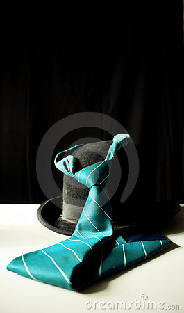 Hat and tie