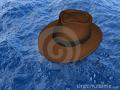 Hat on the water