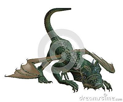 Hatchling Dragon Playing