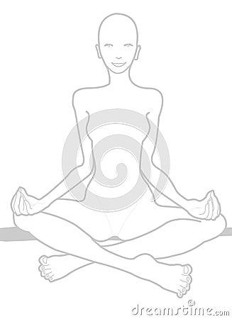 Hatha Yoga Chakra on White