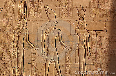 Hathor, Horus and Isis