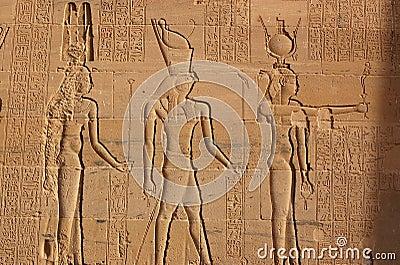 Hathor, Horus und Isis