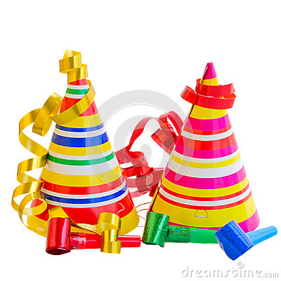 Free Hats And Decorations For Birthday Party Stock Images - 31051084