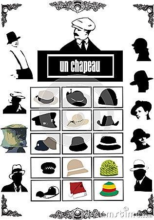 Hats vectors