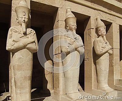 Hatschepsut sculptures made of stone