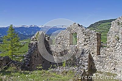 Hauenstein ruins in South Tyrol