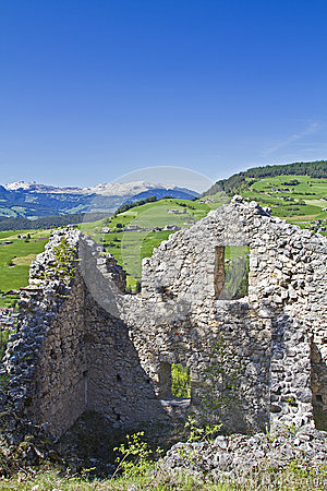 Hauenstein ruins in South Tyrol