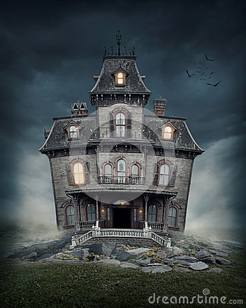 Free Haunted House Royalty Free Stock Photography - 31241197