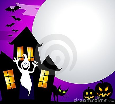 Free Haunted House And Moon Stock Photography - 5894492