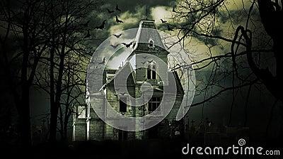 Haunted House Stock Photo Image 64317691