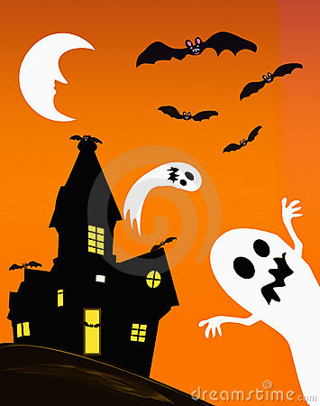 Haunted house and ghosts