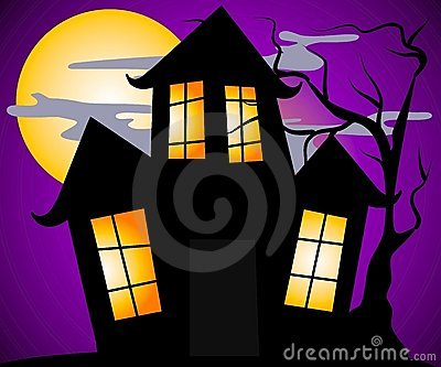 Haunted House Halloween Scene
