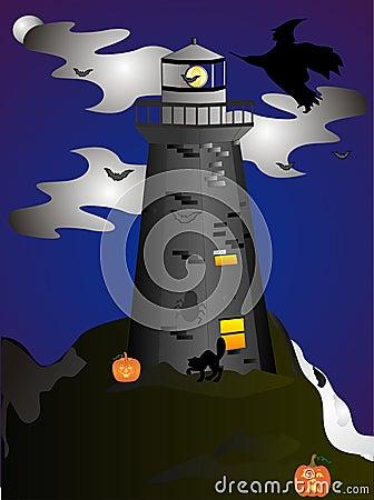 Free Haunted Lighthouse Royalty Free Stock Photos - 8549388