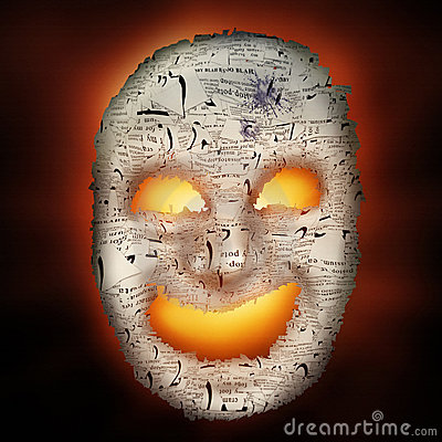 Haunted Paper Mask