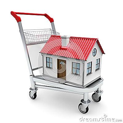 Haus auf der Laufkatze