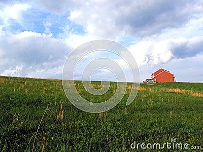 Haus auf einem Hügel