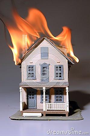 Haus auf Feuer