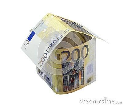 Haus des Euro zweihundert